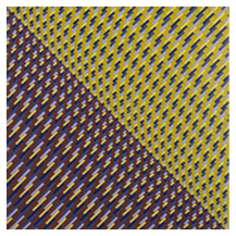 Yellow Mustard Rollers woven art picture